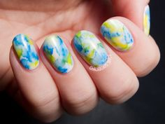 Marbled | Sharpie Nail Art Designs You'll Surely Love