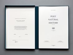 Post Natural History by Vincent Fournier Luxury Graphic Design, Graphic Design Print, Book Design Layout, Print Layout, Editorial Layout, Editorial Design, Packaging Design Inspiration, Graphic Design Inspiration, Brochure Layout