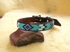 Beaded Dog Collar. $40.00, via Etsy.