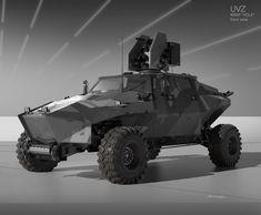Eugene Shushliamin polygonal military light weight vehicle concept art transportation rendering for inspiration idea futuristic future modern hummer