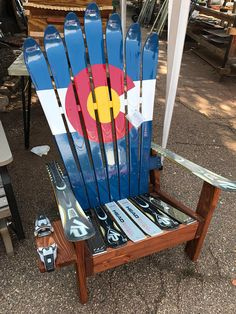 Colorado Flag Adirondack Ski Chair  Bestseller