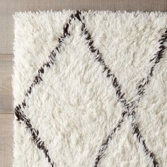 Varick Gallery® Simonds Off-White/Brown Shag Area Rug