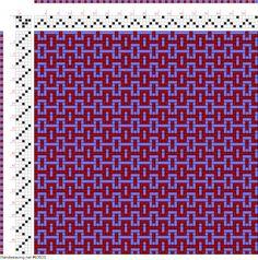 draft image: Figurierte Muster Pl. XVIII Nr. 8 (c), Die färbige Gewebemusterung, Franz Donat, 4S, 5T