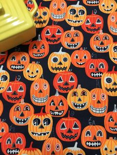 Halloween Pumpkins Dish Drying Mat Kitchen by MakingSomethingHappy