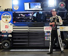 Kevin Harvick Photos Photos - Kevin Harvick, driver of the #4 Jimmy John's Chevrolet, stands in the garage area during practice for the Daytona 500 at Daytona International Speedway on February 17, 2016 in Daytona Beach, Florida. - NASCAR Sprint Cup Series Daytona 500 - Qualifying