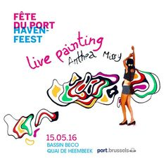 This sunday from 13:30 to 18:00pm I'll be live painting at the Port of Brussels. What's on? Big Party with many people and entertainments from various artists especially my live painting smile emoticon - 13:30 Painting the design of Peniche Fulmar (graphic design job) with Enamel & Brush - 15:00 Live painting - Spray  Graffiti - on plastic sheet with a new creative artwork of mine size - 3m x2m.  See you on Sunday !  My art: http://ift.tt/24PIhM5 The party program: http://ift.tt/27jeRIw…