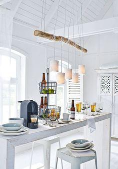 Fantastisch Modern Fashion Hanging Large WOODED AND CERAMICS Chandeliers/DIY Modern  White Nature Wooden Chandeliers Kitchen Lighting
