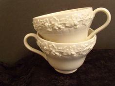 Pair of Vintage Wedgewood Tea Cups Queens Ware England by Tutalu