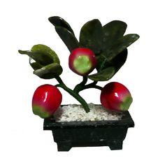 Arbol de la Prosperidad de tres (03) Manzanas y Jade.