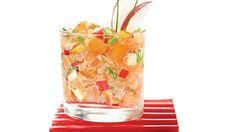 Tartare de duo de saumons, noix de pin et pomme rouge de Geneviève Everell
