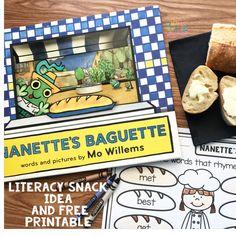 Literacy Snack Idea Rhyming + Free Printable