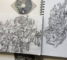 Throwback Thursday: Two bizzaro sketches and some Emergence collab items. The art is from days gone by but I have still kept some of the elements in my art to this day... Most of my new stuff cant be this detailed but sometimes I yern ;) . Shite-est pencil most rubbish paper stock not sealed... but I like it. . . . . . #sketch #skechbook #tbt #tbthursday #tbt #tbt #sketchjournal #trippyart #scifiworld #fantasyart #geekart #sketchesofinstagram #pencilart #pencilsketch #artjournal… Sketch Journal, Geek Art, Throwback Thursday, Scribble, Pencil Art, Dune, Original Artwork, Fantasy Art, Sci Fi