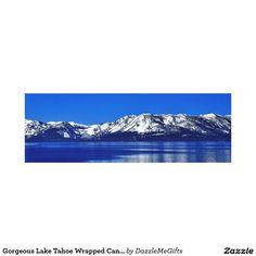 Gorgeous Lake Tahoe Wrapped Canvas Print
