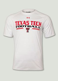 Under Armour® Media Day White Tee. Red Raider Outfitter.