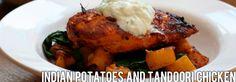 Recipe: Indian Potatoes and Tandoori Chicken Tandoori Chicken, Food And Drink, Potatoes, Indian, Ethnic Recipes, Potato