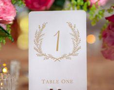 Vintage doux dièses de Table de mariage 1-20 - or mat