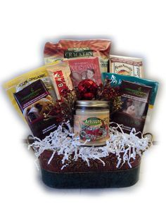 Gluten free get well basket gluten free food gifts pinterest vegan christmas gift basket negle Images