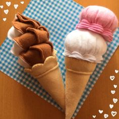 フェルトままごと☆アイスクリームAセット 2x