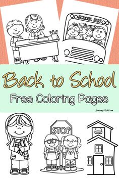 Printable back-to-school themed coloring pages to help your kids transition from summer to school Kids nervous about going back to school? Enjoy these back to school free coloring page set to help your kids transition to their new school year. Kindergarten Coloring Pages, Kindergarten Colors, Homeschool Kindergarten, Preschool Classroom, Kindergarten Orientation, Preschool Rules, Future Classroom, Preschool Ideas, Back To School Party