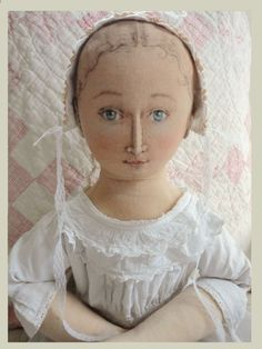 fabric doll inspired by old dolls