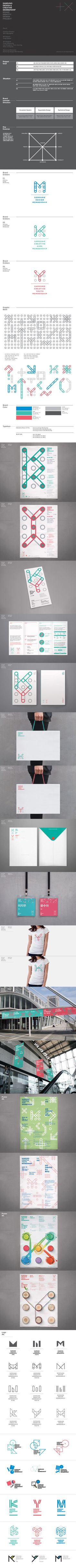 Studio Playground likes this identity: Samsung Design & Creative Membership BX Design Project by Plus X , via Behance