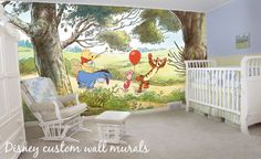 winnie the pooh wall mural-- decal