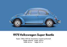 VW Beetle 1975 super Beetle sedan