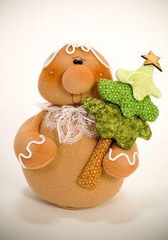 ~~Primitive Gingerbread shelf sitter w/fixins~Pattern Gingerbread Christmas Decor, Gingerbread Ornaments, Gingerbread Decorations, Felt Christmas Ornaments, Christmas Candy, Christmas Decorations, Gingerbread Man, Xmas, Christmas Sewing