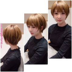 How to style the Pixie cut? Despite what we think of short cuts , it is possible to play with his hair and to style his Pixie cut as he pleases. Asian Short Hair, Girl Short Hair, Short Hair Cuts, Undercut Hairstyles, Pixie Hairstyles, Pixie Haircut, Bob Hairstyle, Shot Hair Styles, Curly Hair Styles