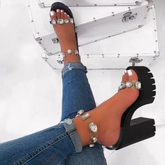 Just In Sheila Black Platform Heels. Heeled Boots, Shoe Boots, Ankle Boots, Aesthetic Shoes, Cute Heels, Sneaker Heels, Prom Shoes, Pretty Shoes, Mode Inspiration