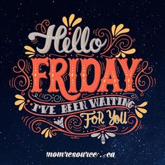 Ahhh... happy Friday everyone! What are your plans for the weekend?  . #momresourceca #hellofriday #canadianmoms #momlife #friyay #weekendwarriors #fb