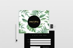 Tropical double sided gift certificate template By deidei graphic