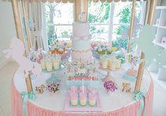 Babyology shows you a children's birthday party that's perfect for pony-loving princesses. Check out the carousel shaped sweets table! Carousel Birthday Parties, Carousel Party, Unicorn Birthday Parties, Unicorn Party, Unicorn Wedding, 13th Birthday, Birthday Ideas, Horse Birthday, Baby Girl Birthday