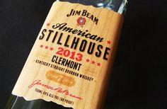 Jim Beam Wood Label