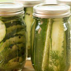 Quick & Easy Refrigerator Dill Pickles   browneyedbaker.com #recipe #summer #canning