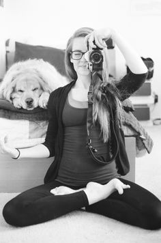 my yoga always includes at least one dog doing this next to me at all times ; )