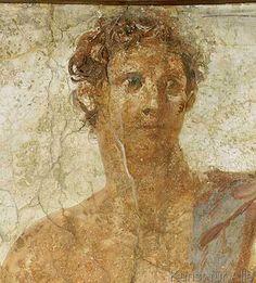 Wandmalerei - Kopf des Theseus / röm.Wandmalerei