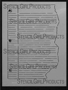 """Journal Notes Stencil L096 Artist Designer - Pam Carriker 9""""x12"""" $14"""