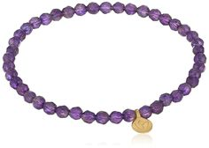 Satya Jewelry 'Classics' Amethyst Mini Lotus Stretch Bracelet *** Find out more about the great product at the image link.