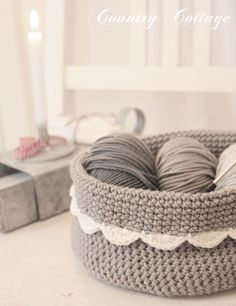 INSPIRATION | crochet basket | no pattern