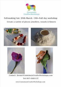 Felt making Workshop Workshop, Felt, Textiles, Create, Flowers, How To Make, Atelier, Felting, Work Shop Garage