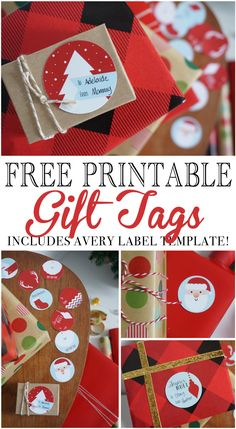 free printable Christmas gift tags are an easy, convenient and beautiful way to finish your Christmas gifts this year! Avery Label Template included!