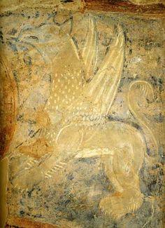 Грифон Фреска в южной башне.