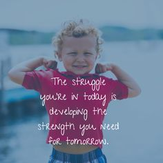 Motivation Monday: Being strong is not supposed to be easy; it's supposed to be hard. That's why we revere strong #TinySuperheroes so much! http://qoo.ly/b8hid