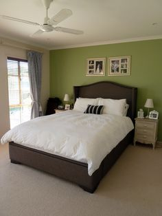 [ Bedroom Green Paint Furniture High Resolution Color Shade Ideas Blue And ] - Best Free Home Design Idea & Inspiration Bedroom Colour Schemes Green, Bedroom Green, Master Bedroom, Dinosaur Boys Rooms, Paint Furniture, Furniture Design, Painted Feature Wall, Color Shades, Boy Room