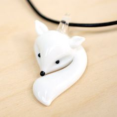 ~ Glass Fox Necklace, but a inspiration for Polymer Clay.