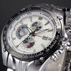 นาฬิกาข้อมือ สุภาพบุรุษ QUARTH SPORT สุดหรู WHITE