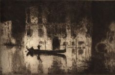 Photo provided by the LSU Museum of Art -- Whistler inspired other artists, like James McBey, to come to Venice. McBey''s 1925 etching on laid paper, 'Venetian Nights,' is on loan from Syracuse University Art Galleries and is part of the LSU Museum of Art's exhibit, 'An American in Venice: James McNeill Whistler and His Legacy.'
