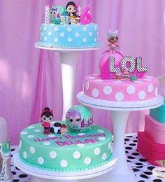12 ideas para decorar Fiesta LOL Surprise Dolls 12 ideas to decorate Fiesta LOL Surpri Birthday Party Decorations, Birthday Parties, Lol Doll Cake, Surprise Cake, Troll Party, Star Cakes, Birthday Cake Girls, Lol Dolls, Girl Cakes