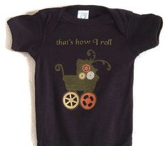 e0fbf9c36 Steampunk Baby Onesie Bodysuit with Stroller Gears That's How I Roll - #baby  #Bodysuit